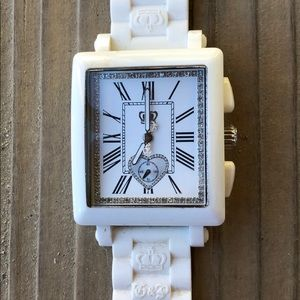 Juicy Couture Limited Edition White Crystal Watch!